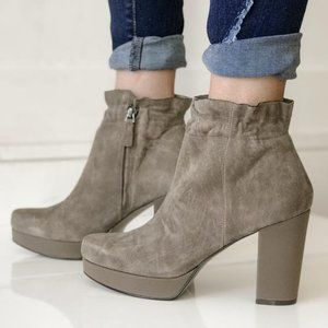 NAKED FEET - Suede Attis Ankle Bootie